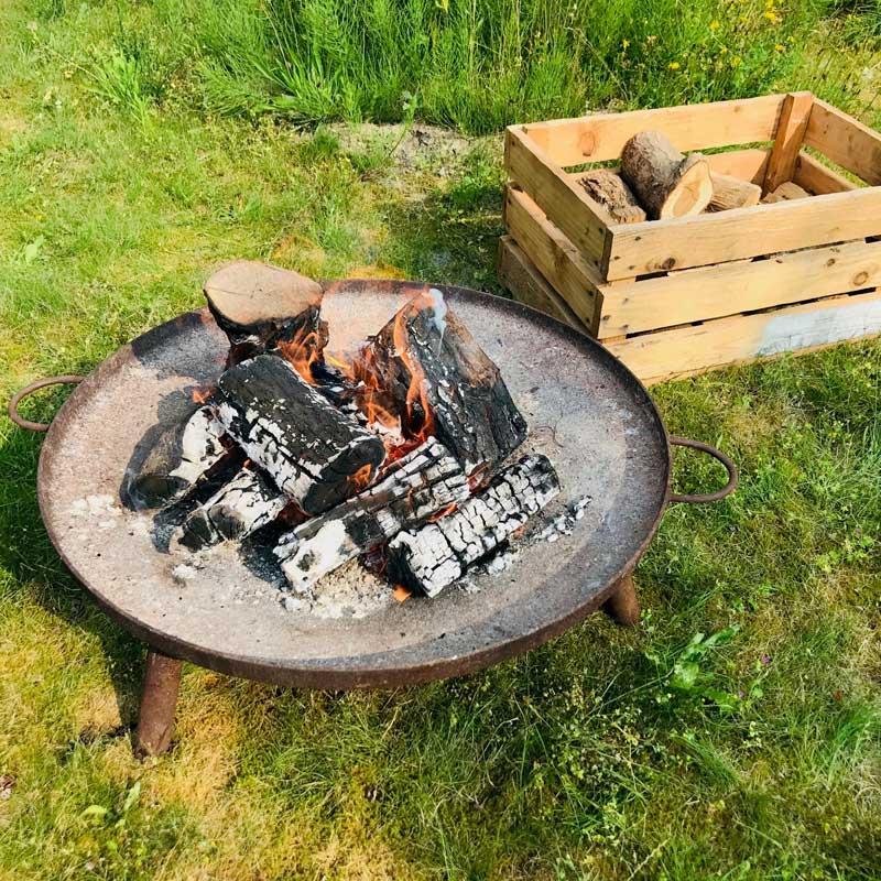 Uitvaart in de natuur vuurschaal